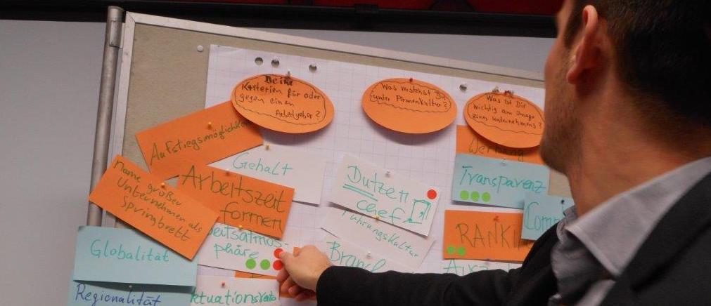 Abb 1: Studenten bewerten ihre Anforderungen an Arbeitswelt und HRM (Quelle ZiP)